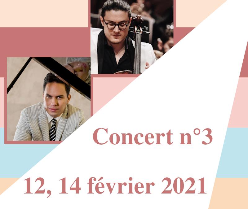 Concert n°3Récital violoncelle & piano