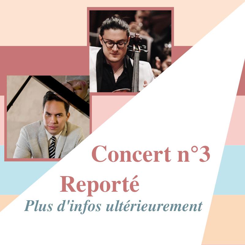 Concert 3 reporté