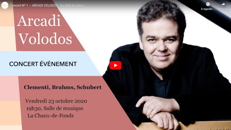 Vidéo : Concert Nº 1 — ARCADI VOLODOS : Au-delà du piano…