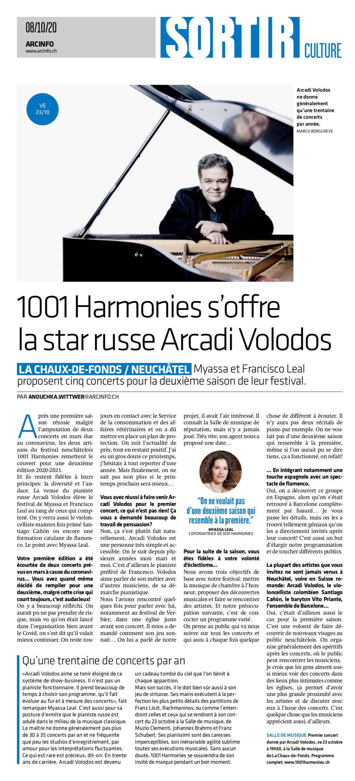 1001 Harmonies s'offre la star russe Arcadi Volodos