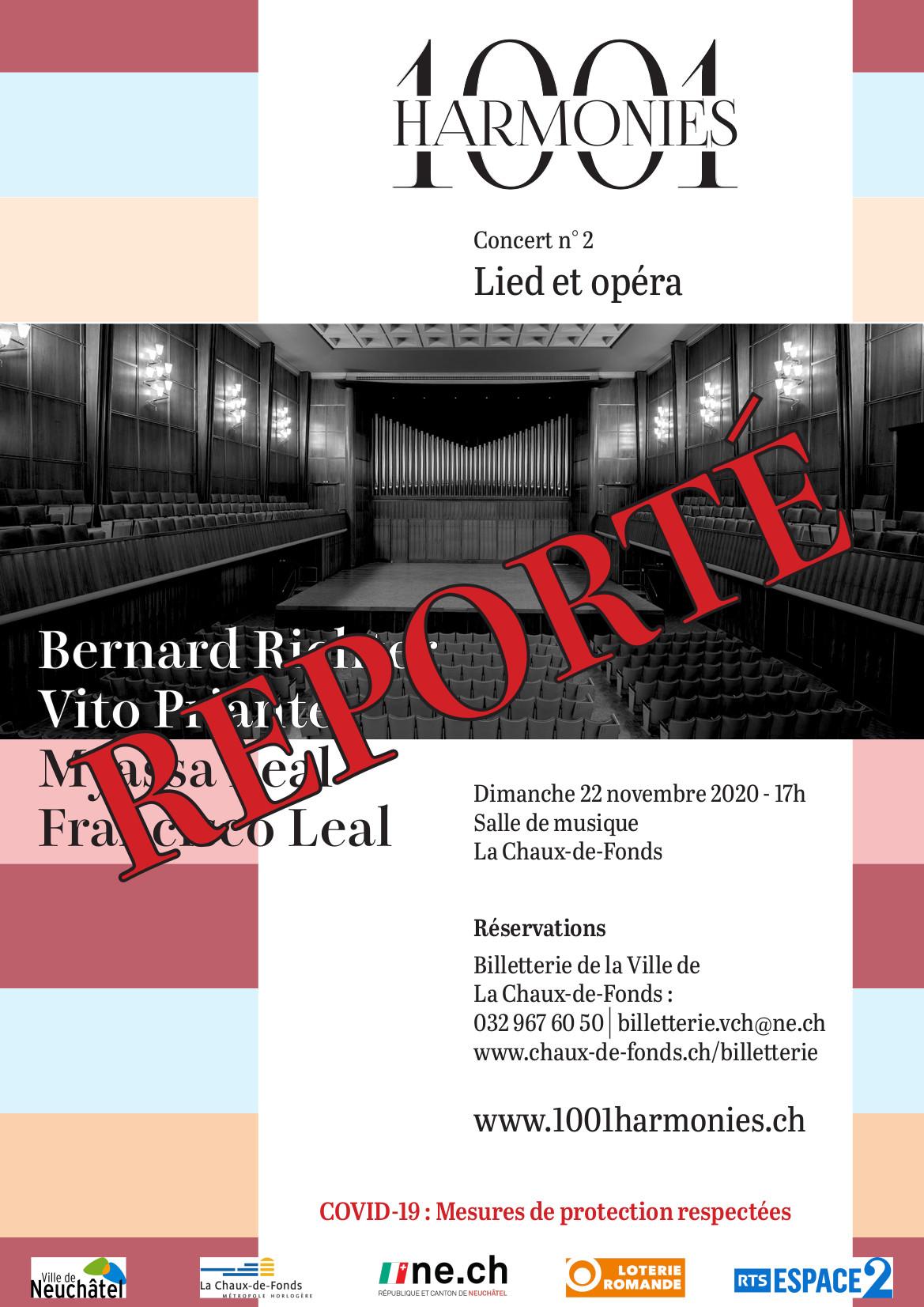 Concert 2 reporté